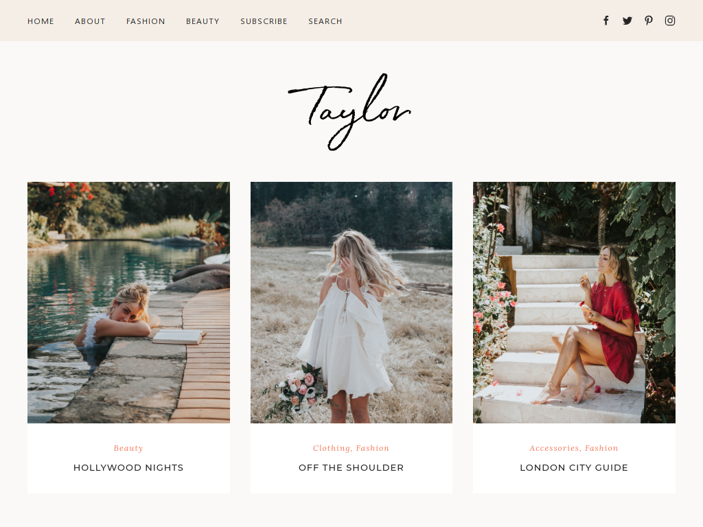 Minimalist WordPress Theme for Lifestyle Bloggers